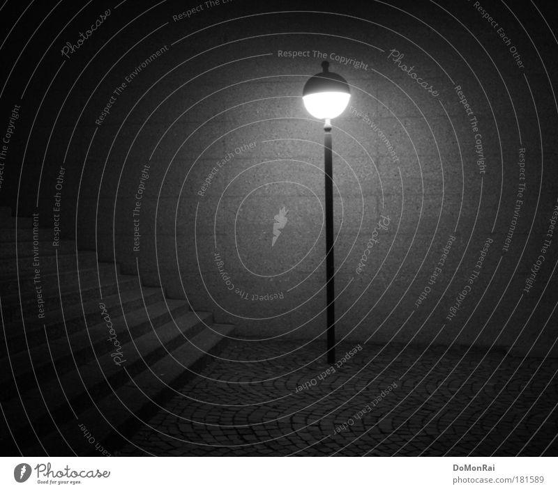 Déjà-vu 1929 / Anno 2009 Stadt Einsamkeit dunkel Wand Stil grau Stein Mauer Beleuchtung Kunst Nacht Beton Energie Fassade Treppe modern