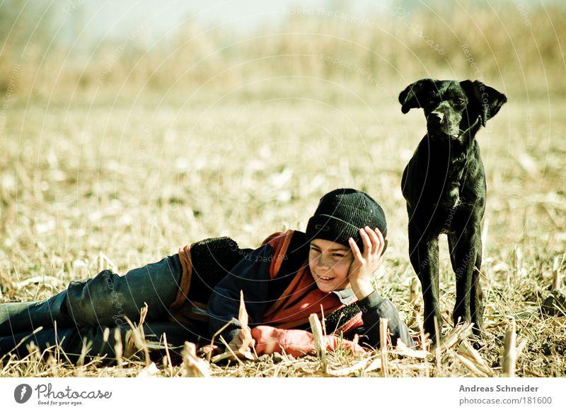 Andrej Arschawin Mensch Kind Natur Jugendliche grün Sommer Freude Erholung Freiheit Hund Glück Freundschaft Kindheit Zufriedenheit maskulin Kultur