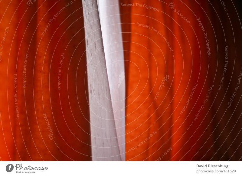 Holländische Gardinen weiß rot Fenster Linie Hintergrundbild orange Stoff Vorhang Faltenwurf kraus zweifarbig