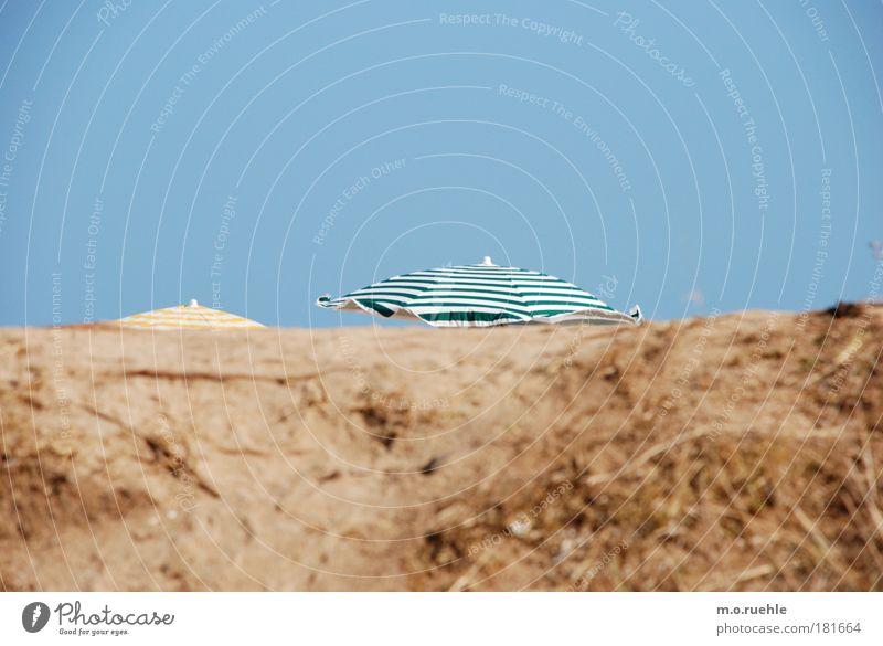 abgeschirmt Himmel grün blau Sommer Ferien & Urlaub & Reisen ruhig Erholung Sonnenschirm Deckung Urlaubsstimmung