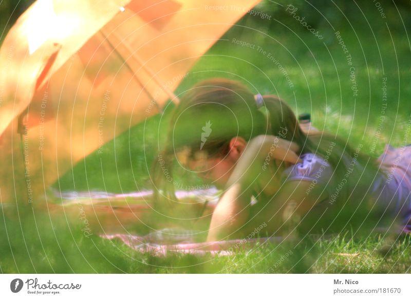 last summer days Natur ruhig Erholung Wiese Garten Glück Wärme Brief Mensch Wetterschutz lesen liegen Freizeit & Hobby schreiben natürlich