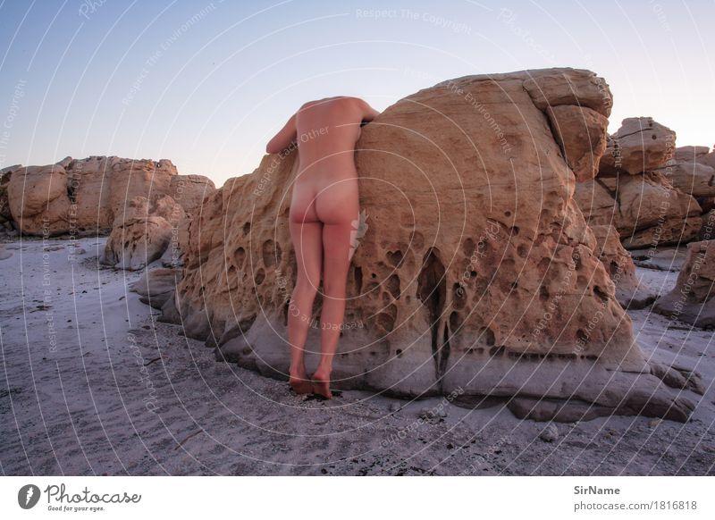406 [bodylandscape] Sinnesorgane Schwimmen & Baden Strand feminin Junge Frau Jugendliche Leben 1 Mensch 18-30 Jahre Erwachsene Kunst Natur Landschaft Urelemente