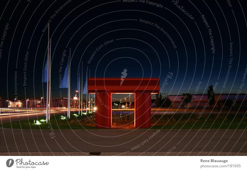 Rotor blau rot Architektur Tür modern außergewöhnlich Tor exotisch Industrieanlage Kunstwerk Asiatische Architektur