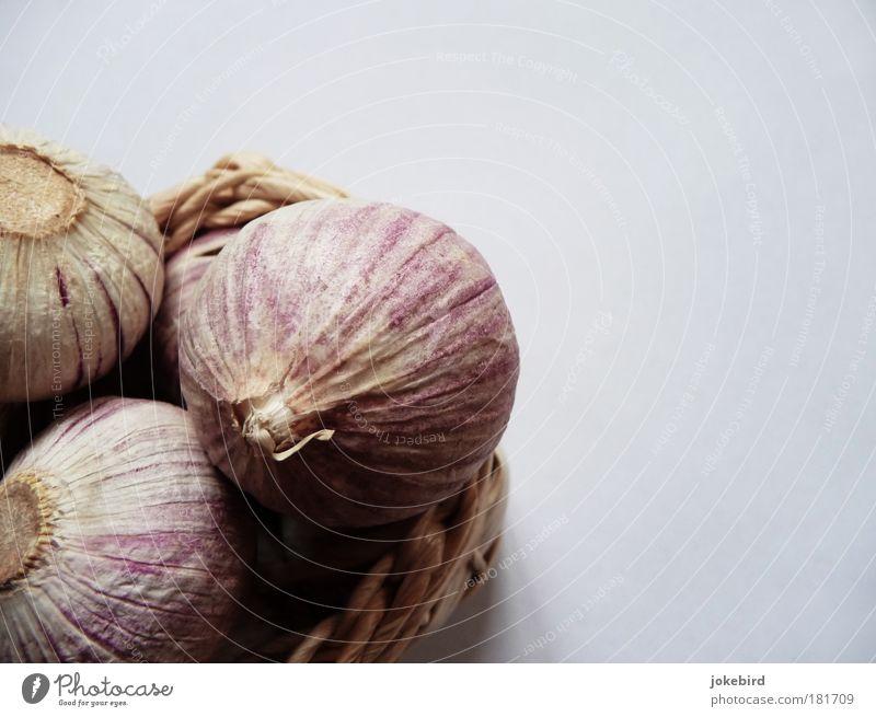 Knobi Pflanze Knoblauch Knoblauchzehe Knoblauchknolle Schalen & Schüsseln Korb Duft genießen Gesundheit Leben Natur Geruch Küche rosa rund 3 Kräuter & Gewürze