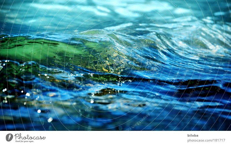 Montags-Bil-Wasser Natur grün blau Sommer kalt Wellen Hintergrundbild Umwelt Ordnung Klima Seeufer Urelemente