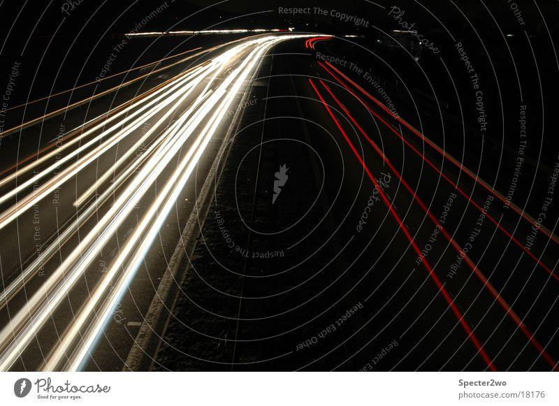 YAAS - Yet another Autobahn Shoot Langzeitbelichtung Licht Nacht Geschwindigkeit