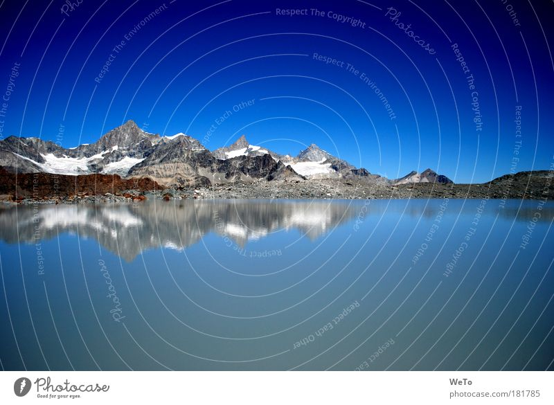 Hochsee Natur Schweiz Wasser blau Sommer Ferne Berge u. Gebirge Freiheit Landschaft Umwelt Alpen Unendlichkeit Sehnsucht Gipfel Urelemente Schönes Wetter