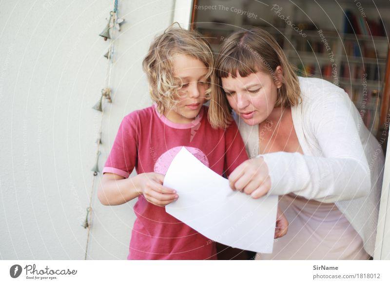 403 [school project] Mensch Kind Jugendliche Junge Frau Erwachsene Leben sprechen Familie & Verwandtschaft Häusliches Leben Tür blond Kindheit Kommunizieren