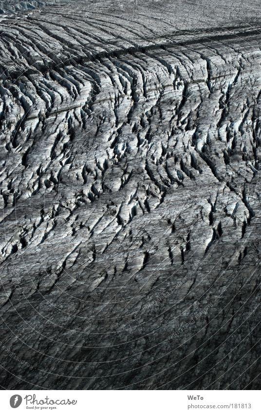 spaltig Natur Wasser weiß schwarz kalt Landschaft Eis Kraft elegant Umwelt Zeit Wandel & Veränderung Klima Vergänglichkeit Alpen einzigartig