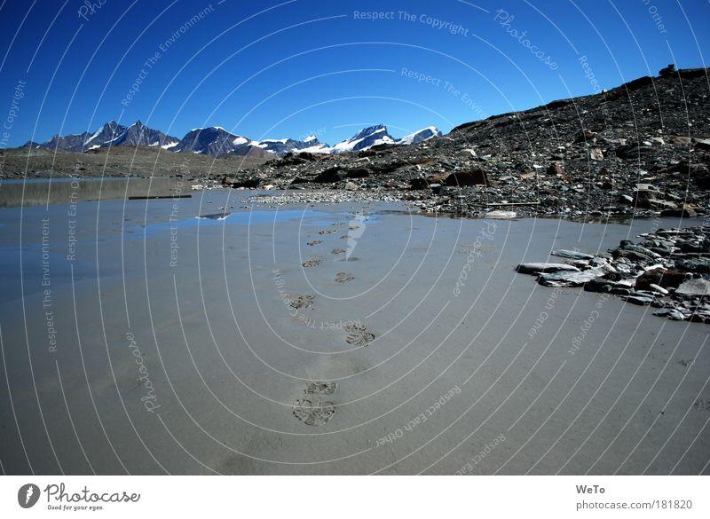Bergtour Farbfoto Außenaufnahme Menschenleer Tag Sonnenlicht Panorama (Aussicht) Weitwinkel Umwelt Natur Landschaft Erde Sand Wolkenloser Himmel Schönes Wetter