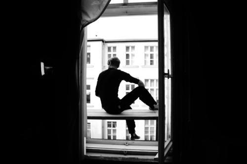 Prenzlauer Berg Stadt Haus Fenster Berlin Hauptstadt Stadtzentrum Altstadt Baugerüst Hof verlieren