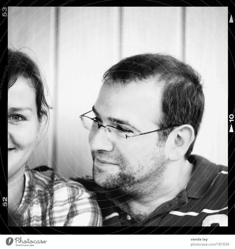 ♥ Mensch Frau Erwachsene Mann Eltern Freundschaft Paar Partner Leben Brille Lächeln lachen Liebe Freundlichkeit Fröhlichkeit Zusammensein Zufriedenheit