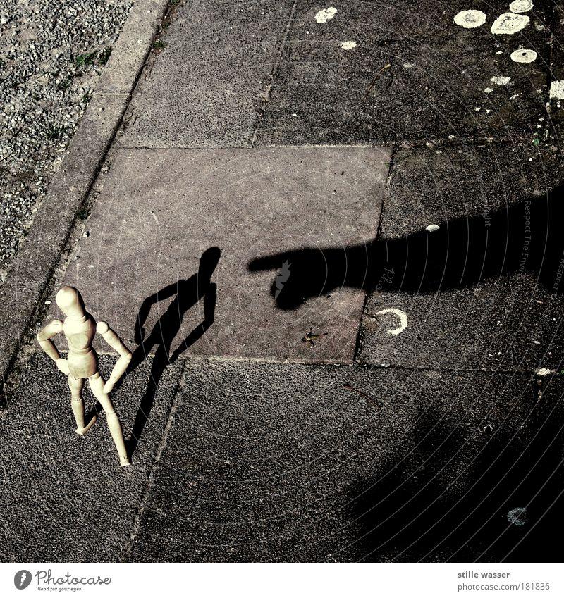 Ich bin klein mein Herz ist rein Schatten Silhouette Kindererziehung sprechen Eltern Erwachsene Jugendkultur Wege & Pfade Puppe Kitsch Krimskrams Holz