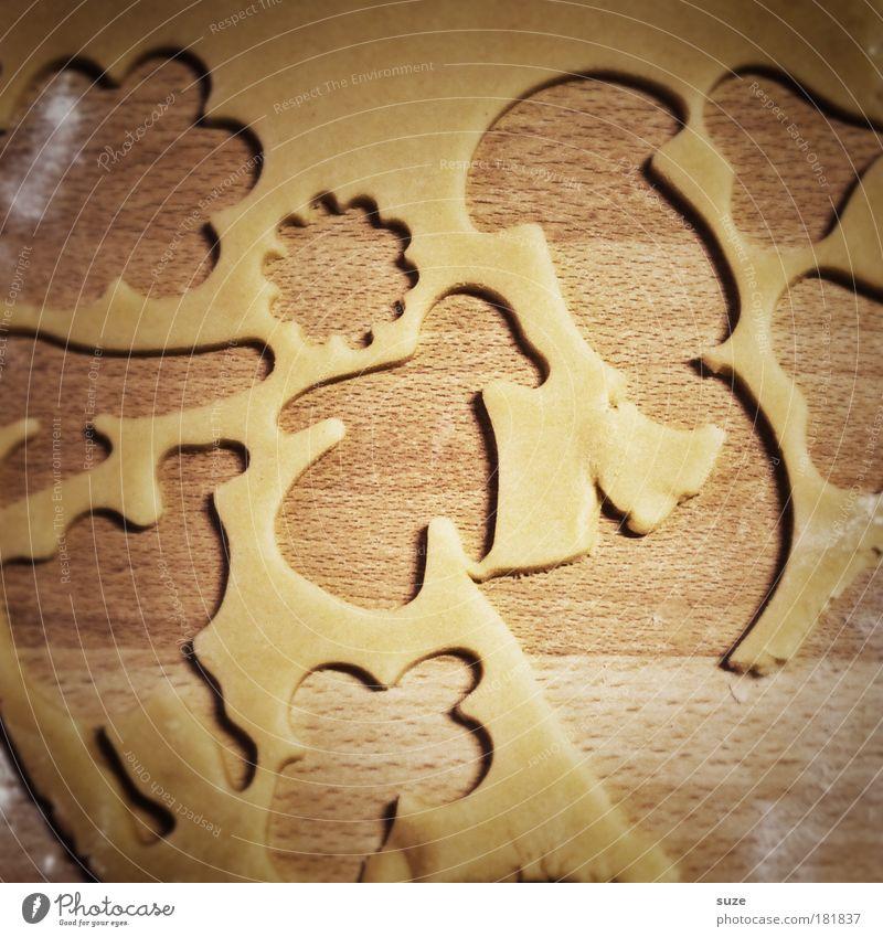 Au backe lustig Feste & Feiern außergewöhnlich authentisch Ernährung Tisch Kochen & Garen & Backen einfach niedlich Grafik u. Illustration graphisch Backwaren Figur Umrisslinie Teigwaren Plätzchen