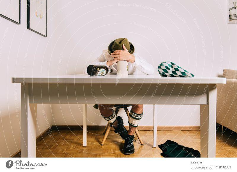 WIESN 2017 - Die letzte war schlecht Lifestyle elegant Stil Oktoberfest Junger Mann Jugendliche 18-30 Jahre Erwachsene Krachlederne Tracht haferlschuhe Hut