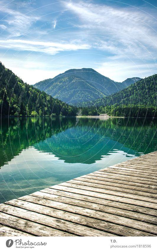 Mittelberg Himmel Natur blau grün Wasser Landschaft Erholung ruhig Berge u. Gebirge Holz Zeit See Zufriedenheit wandern Ausflug Idylle