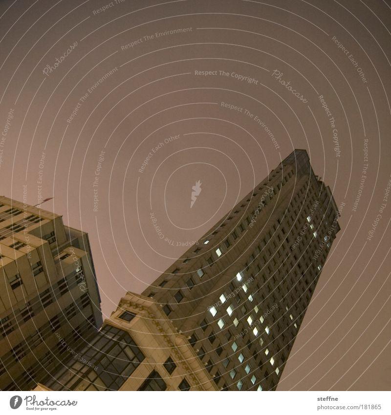 umstürzende Neubauten Büroarbeit Wirtschaft Kapitalwirtschaft Geldinstitut Business Karriere Erfolg Himmel Nachthimmel Shanghai China Skyline Hochhaus