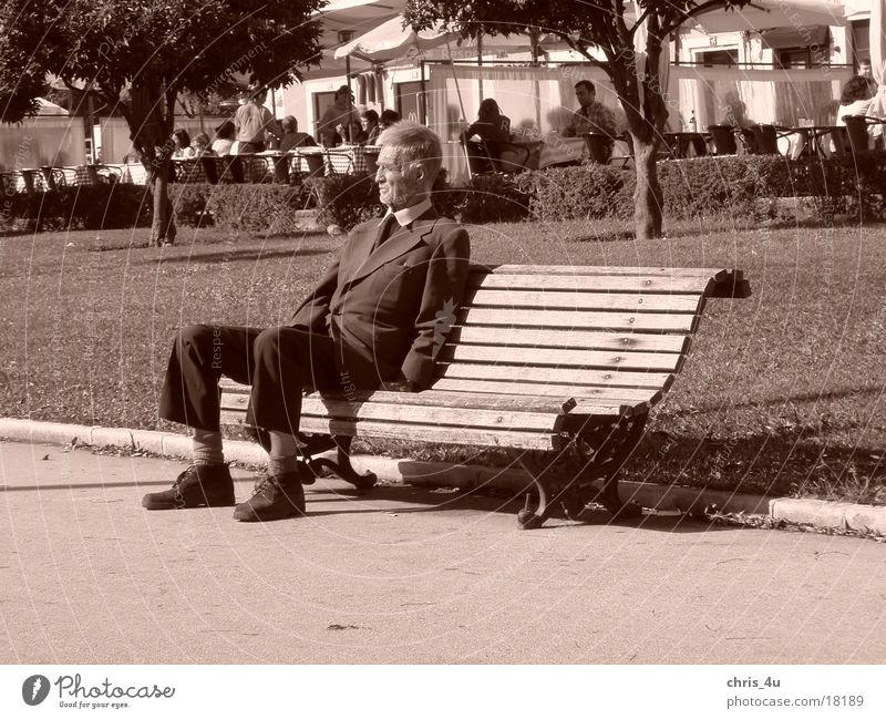 Alter Mann Portugal Lissabon Senior Stadtteil Belém Männlicher Senior