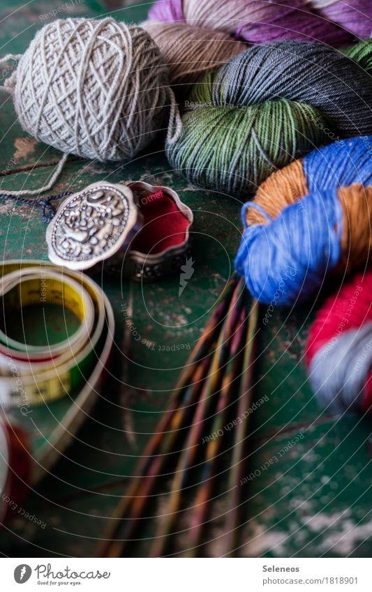 Handarbeitstag Erholung ruhig Freizeit & Hobby Zufriedenheit Kreativität Wohlgefühl harmonisch Verpackung Sinnesorgane Dose Wolle stricken Maßband Wollknäuel
