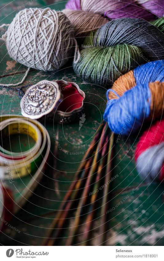 Handarbeitstag harmonisch Wohlgefühl Zufriedenheit Sinnesorgane Erholung ruhig Freizeit & Hobby stricken Verpackung Dose Stricknadel Wolle Wollknäuel Maßband