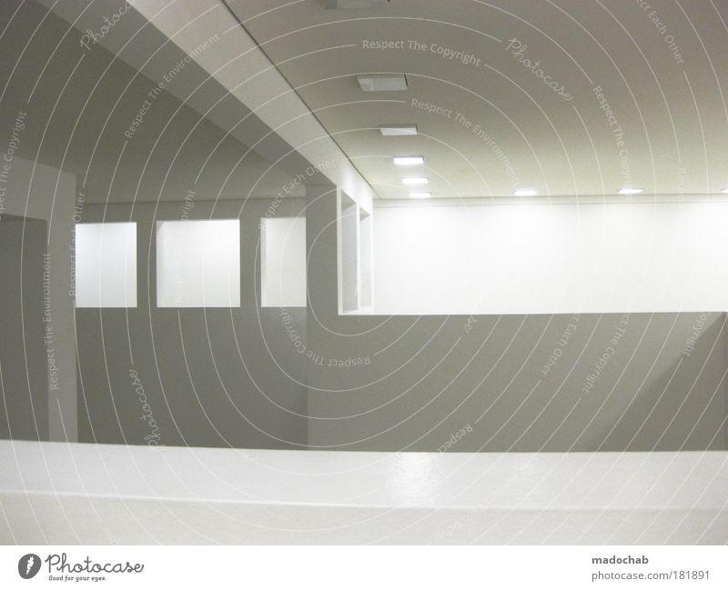 white room Innenaufnahme abstrakt Muster Strukturen & Formen Menschenleer Textfreiraum rechts Textfreiraum Mitte Hintergrund neutral Kunstlicht Kontrast