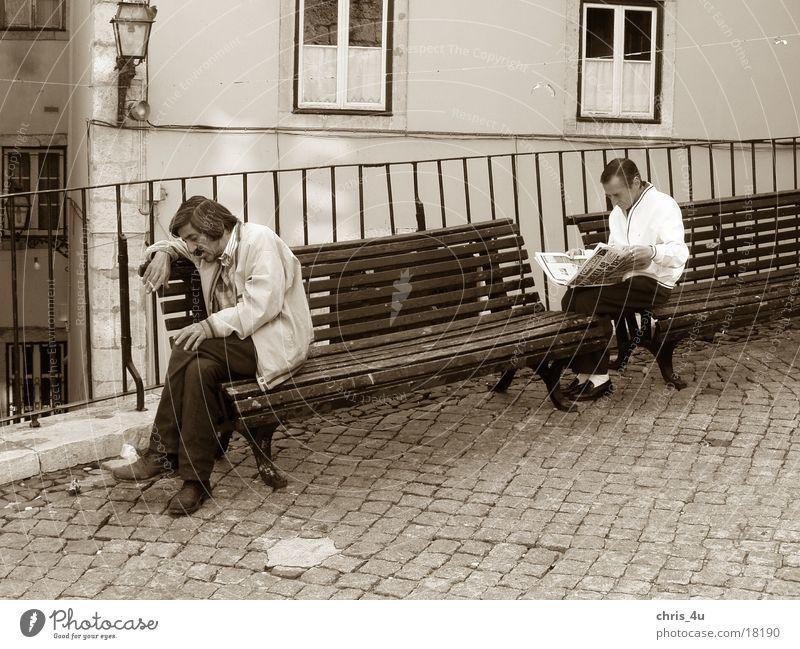 Siesta Menschengruppe Portugal Lissabon Siesta Pause