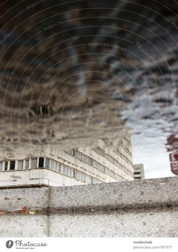 1331 - Übergangszustand Stadt Einsamkeit Stil Kraft Architektur Straßenverkehr Design nass Hochhaus Verkehr frisch modern nah bedrohlich fantastisch