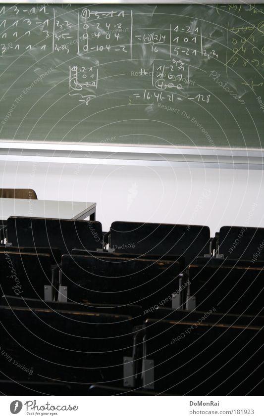 Matrix calculus reloaded grün weiß schwarz Schule Studium Macht bedrohlich Bildung Ziffern & Zahlen Student Tafel Wissenschaften Bank Kreide Berufsausbildung