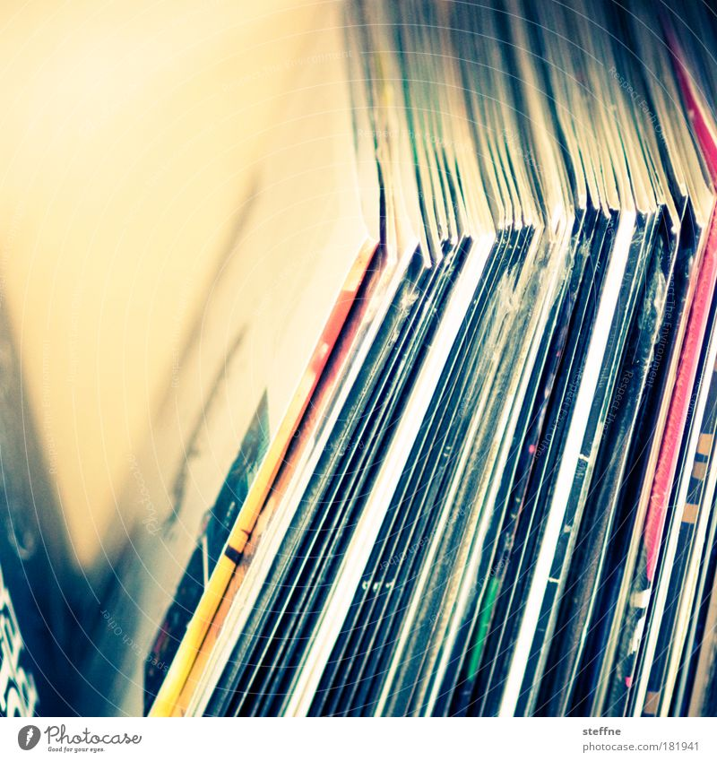 For the Records Kultur Jugendkultur Musik Musik hören Schallplatte Plattenspieler Freude Farbfoto Innenaufnahme Studioaufnahme Nahaufnahme