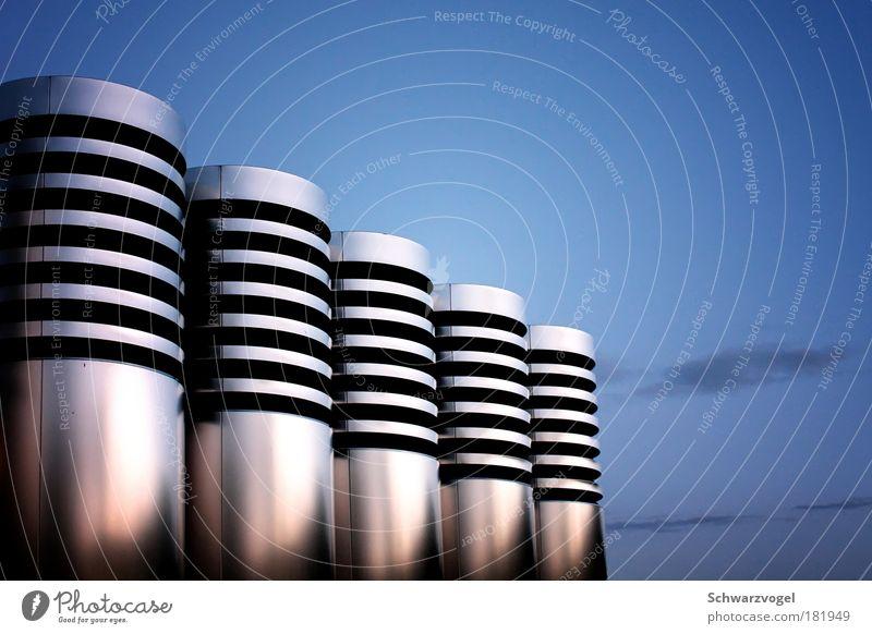 Osterinsel 2.0 blau schwarz Gebäude Stimmung Zusammensein Metall Architektur glänzend rosa elegant Industrie modern ästhetisch Zukunft Technik & Technologie