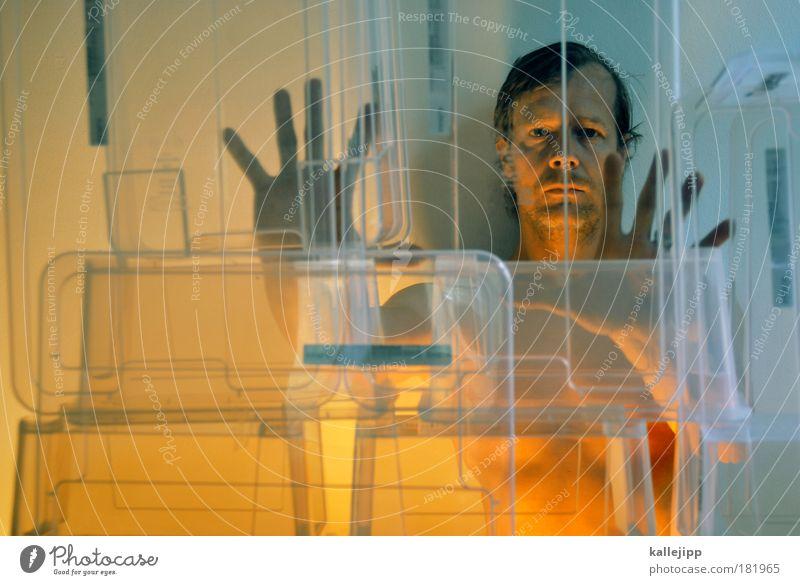 windows Farbfoto mehrfarbig Innenaufnahme Studioaufnahme Kunstlicht Licht Schatten Kontrast Reflexion & Spiegelung Unschärfe Oberkörper Lifestyle ruhig