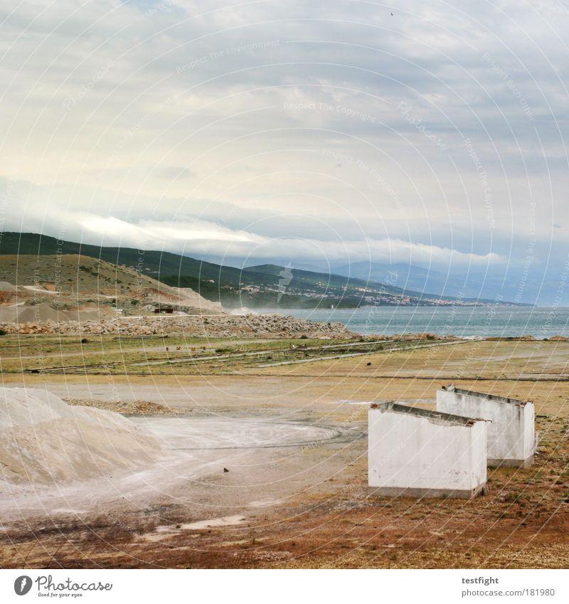 europäische aussenstellen Farbfoto Außenaufnahme Textfreiraum oben Dämmerung Weitwinkel Umwelt Natur Landschaft Pflanze Urelemente Erde Sand Luft Wasser Himmel