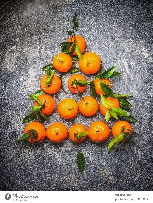 Mandarinen Weihnachtsbaum Frucht Stil Design Gesunde Ernährung Leben Winter Party Veranstaltung Feste & Feiern Weihnachten & Advent Natur Inspiration Tradition