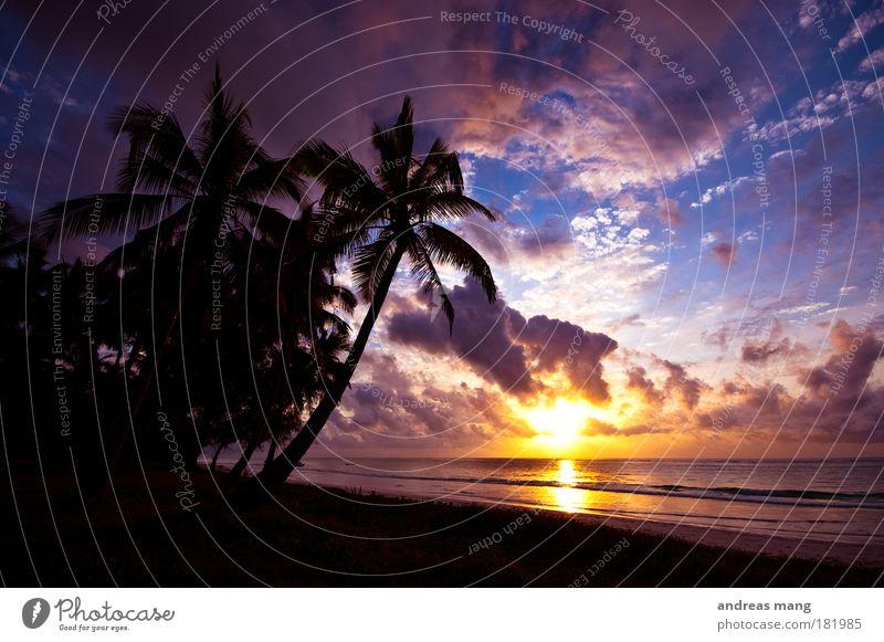 Traumurlaub Himmel Natur Wasser Sonne Strand Ferien & Urlaub & Reisen Meer Wolken Ferne Freiheit Küste Stimmung Wellen Sonnenuntergang frei Hoffnung
