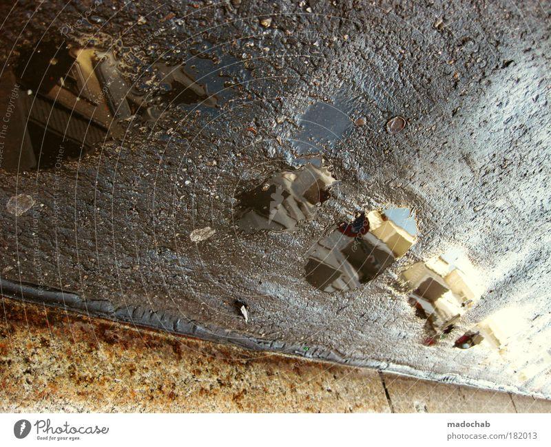 Balkon sucht See Farbfoto Außenaufnahme abstrakt Muster Strukturen & Formen Menschenleer Tag Licht Schatten Kontrast Reflexion & Spiegelung Froschperspektive