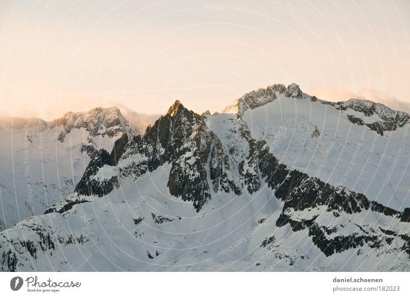 Kanten schleifen und neu wachsen, 9 Euro blau weiß Landschaft Winter kalt Berge u. Gebirge hell Alpen Schneebedeckte Gipfel Schweiz anstrengen