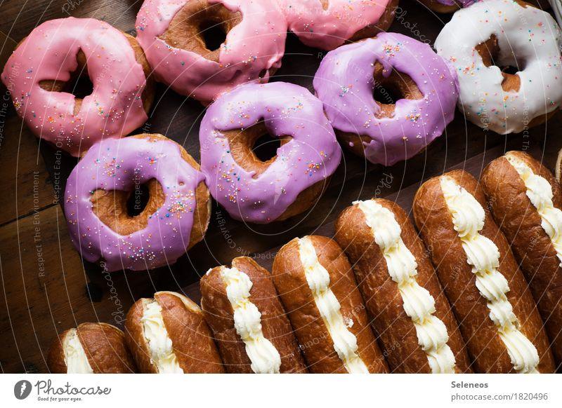 süße Dinger Lebensmittel Milcherzeugnisse Teigwaren Backwaren Kuchen Dessert Süßwaren Krapfen Zuckerguß Zuckerstreusel Ernährung Essen Übergewicht genießen
