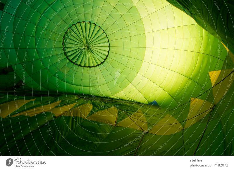 Ballonseide grün gelb Stoff Luftverkehr Licht Kunststoff Ballone Seide Experiment robust