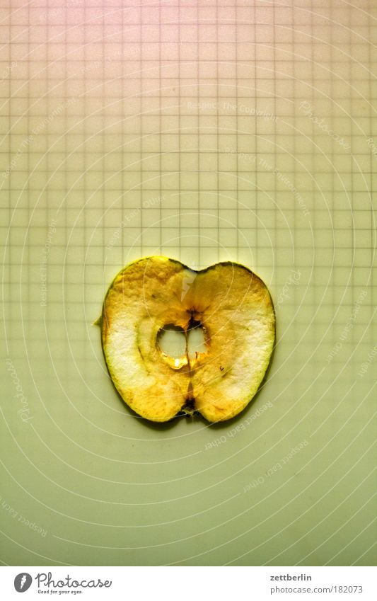Vitamine alt Ernährung Frucht Kreis Apfel Ernte Ring Scheibe Kerne kariert Textfreiraum Apfelernte Opferung