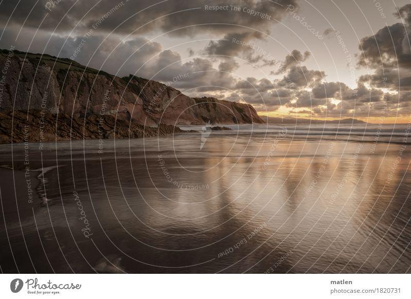 Mokka-Sahne Umwelt Natur Landschaft Sand Luft Wasser Himmel Wolken Horizont Sonnenaufgang Sonnenuntergang Klima Wetter Schönes Wetter Felsen Wellen Küste Strand