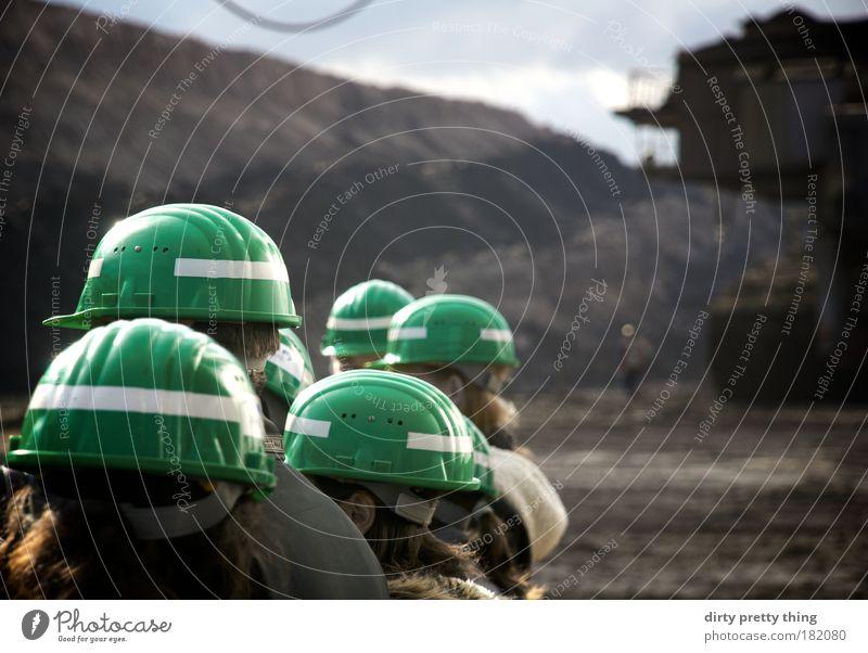 safety 1st Bergbau Menschengruppe maskulin ästhetisch Sicherheit Schutz Konzentration Interesse anonym Schutzbekleidung links Helm Schutzhelm gesichtslos