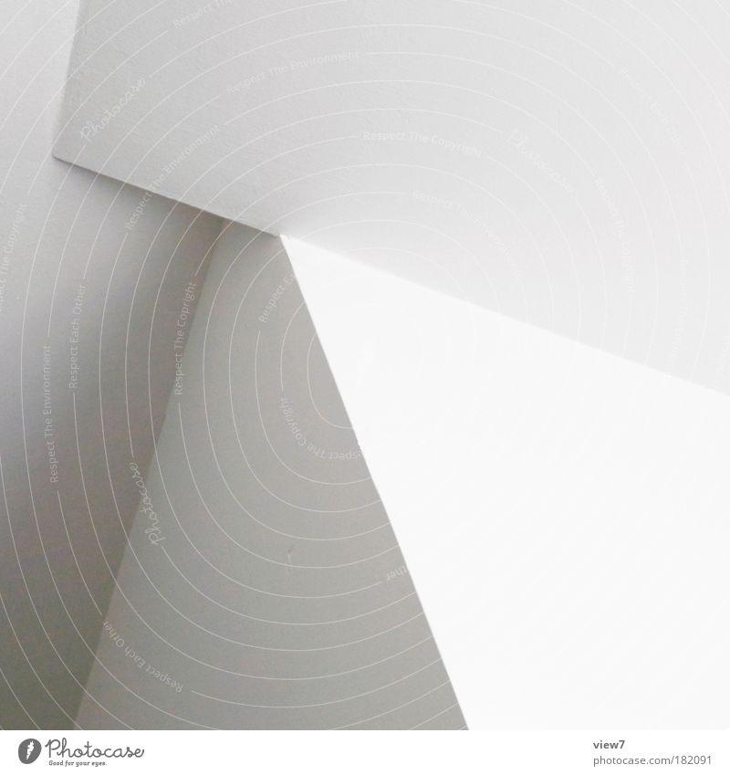 left Schwarzweißfoto Innenaufnahme Detailaufnahme Textfreiraum rechts Licht Starke Tiefenschärfe Haus Mauer Wand Fassade Stein Beton Linie Pfeil Streifen eckig