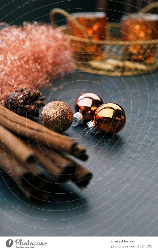 AKCGDR# Weihnachten II Weihnachten & Advent Winter Kunst Dekoration & Verzierung ästhetisch Kerze Postkarte Christbaumkugel Dezember Zimt Zapfen