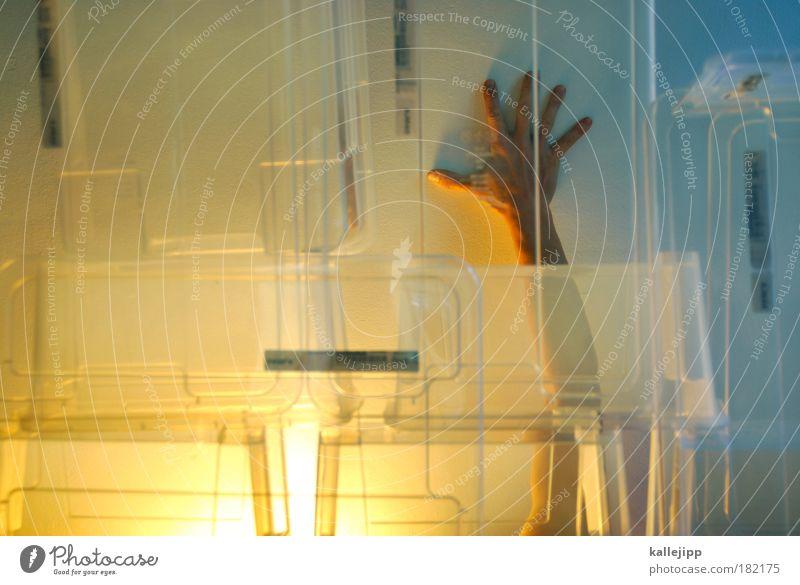 handarbeit Mensch Hand kalt Wärme Arme Finger Isolierung (Material) ästhetisch berühren Skulptur durchsichtig Acryl Wärmeisolierung