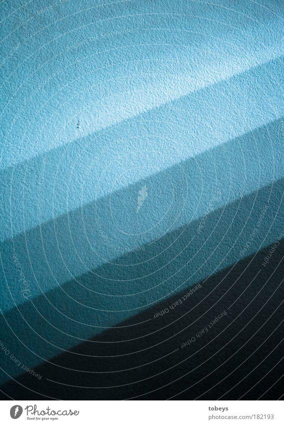 Palette Design kalt blau Wand Paletten hell Beleuchtung Streifen Blauton farbabstufungen leuchten Tapetenmuster Farbverlauf Schatten parallel Linie Glätte
