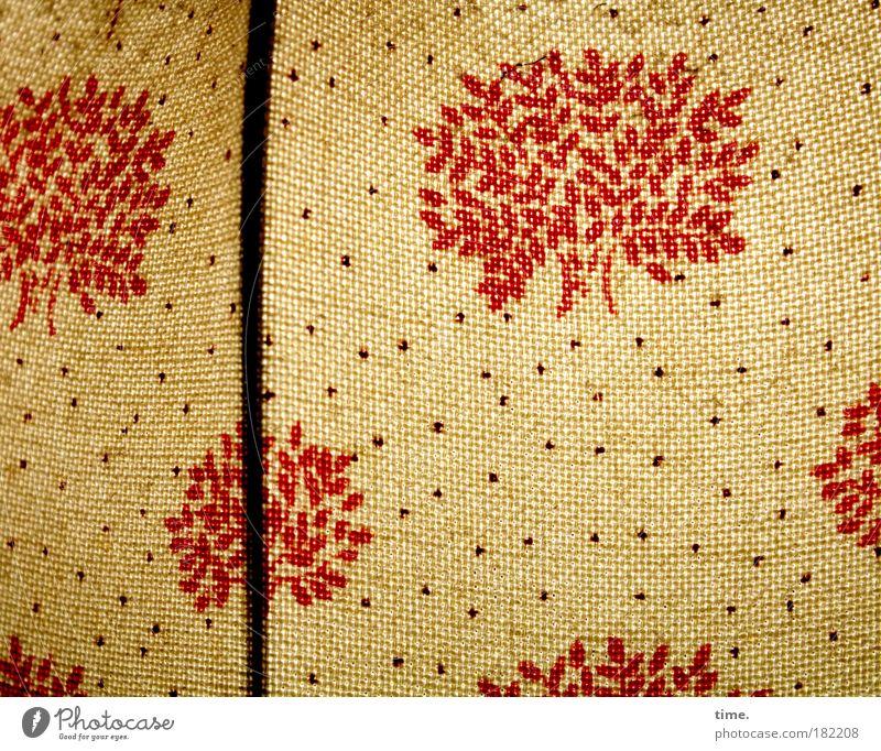 Feuerwerk im Schlafzimmer (old parental version) rot Lampe Wohnung Dekoration & Verzierung Punkt Stoff Nostalgie Druck Siebziger Jahre früher Textilien Strebe