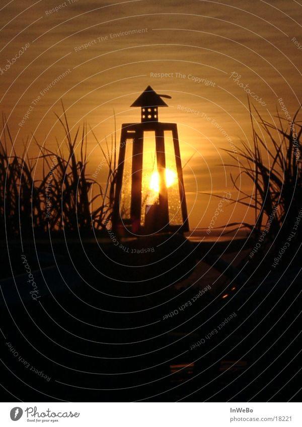 Sonnenlampe I Laterne Abenddämmerung Physik Dämmerung Freizeit & Hobby orange Wärme Lampion