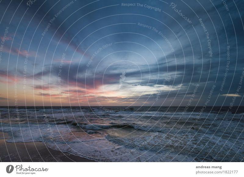 #320 / Raues Meer Himmel Natur Ferien & Urlaub & Reisen Wasser Wolken Ferne Strand Umwelt Küste Stimmung Horizont Wetter Wellen Wind Insel