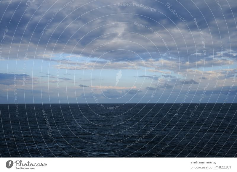 #323 / Meer Ferien & Urlaub & Reisen blau Einsamkeit Wolken Ferne Umwelt Herbst Freiheit Stimmung Horizont Wetter Angst Wellen Ausflug Wind