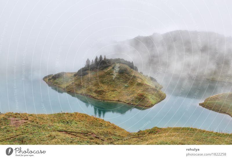 Alpensee im dichten Nebel, Bayern, Deutschland Ferien & Urlaub & Reisen Abenteuer Camping Berge u. Gebirge Natur Landschaft Herbst Wetter Wiese See Gelassenheit